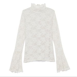 Vince Camuto Lace Bell Sleeve Floral Top
